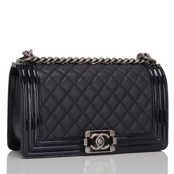 6% off CHANEL Handbags - Chanel Boy Classic Flap Old Medium ... : chanel quilted boy - Adamdwight.com